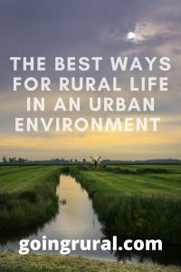 The Best Ways For Rural Life In An Urban Environment