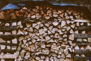 A Tarpaulin Can Make A Useful  Cover For Your Firewood Stack, Keeping Firewood Safe and Dry