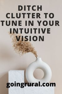 Ditch Clutter to Tune In Your Intuitive Vision