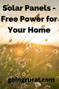 Solar Panels - Free Power for Your Home