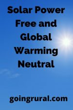 Solar Power Free and Global Warming Neutral