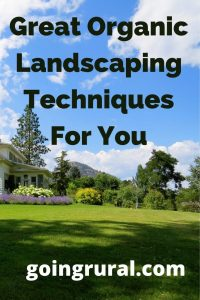 Great Organic Landscaping Techniques For You