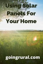 Using Solar Panels For Your Home